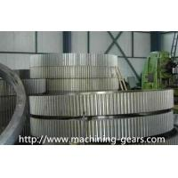 Wholesale CNC Machined Large Stainless Steel Spur Gears Wheel For Ball Mill / Tube Mill from china suppliers