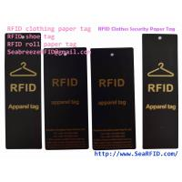 Wholesale RFID Clothes Paper Tag, RFID Garments Tag, RFID Apparels Tag, RFID Clothing Security Paper Tag, Suitable for Bag, Gift from china suppliers
