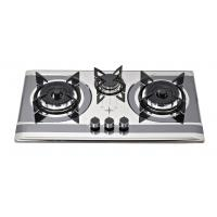 Wholesale Stainless Steel SS 3 Burner Gas Cooker With Round Enamel Grill from china suppliers
