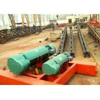Wholesale Double Twin Rails Wire Rope Electric Hoist Trolley , Electric Crane Hoist from china suppliers