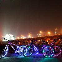 Wholesale Rechargeable 20 Led Bike Wheel Lights Fun RGB Color Changing Design from china suppliers