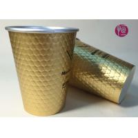 Wholesale 12oz Diamond Shape Ripple Wall In Double Wall Layer Paper Cup With Lid from china suppliers