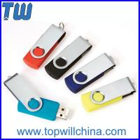 Wholesale Promotion Swivel Capless Thumbdrive 32GB 64GB with Free Custom Printing from china suppliers