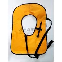 Wholesale Neon Yellow Free Diving Inflatable Life Vests Buoyancy Snorkel Vest Water Safety Vest from china suppliers