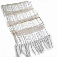 Wholesale 100% Viscose Striped Fringe Fashionable Scarf, Suitable for Gift and Promotional Purpose from china suppliers