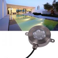 Buy cheap 12 Volt Underwater LED Lights , Stainless RGB Color Changing LED Pool Light from wholesalers