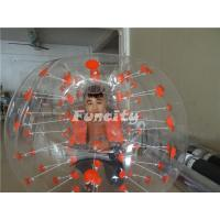 Wholesale TPU / PVC Material Inflatable Bumper Ball , Face Out Inflatable Bubble Soccer Ball from china suppliers