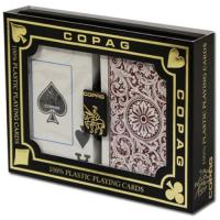Quality XF Copag 1546|Bridge size|Jumbo Index|Burgundy and green|Double Deck|Made in Brazil|poker cheat|Poker Analyzer for sale