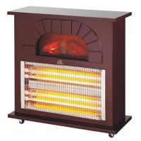 Wholesale infrared radiant quartz heater SYH-1607 2000W electric fireplace for room indoor saso/ce/coc certificate Alpaca Wooden from china suppliers