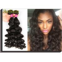 Quality No Lices Brazilian Remy Human Hair Weave Big Curl Thick From Root To The End for sale