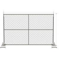 China 6ft x 12ft/ 72inch x 120inch chain link temporary fencing  2 x 2 x 11 gauge wire chain mesh temp construction fence on sale