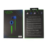 Xibter Noodles Green Cable Game Earphone Deep Bass Stereo 3.5mm In Ear Headphone With Inline Microphone For Cellphone PC