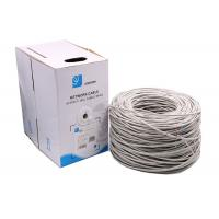 Wholesale 24AWG 0.5mm pass fluke Premium Solid UTP Cat5e Ethernet Cables grey 1000 Feet from china suppliers