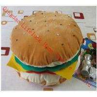 Wholesale Large Funky Hamburger Soft Toy Pillow , PP Cotton Decorative Sofa Cushions from china suppliers