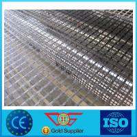 Wholesale 1m Width Asphalt Reinforcement Geogrid Self-Adhesive Warp Knitted Fiberglass Geogrids from china suppliers