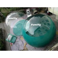 Wholesale Fashionable Transparent PVC Two Rooms Inflatable Tent For Summer Camping from china suppliers