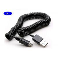 Wholesale Data Sync Charger V3 Extension USB Cable Spring Coiled For Cell Phones MP3 MP4 from china suppliers