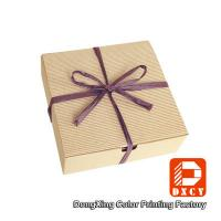 Wholesale Biodegradable Corrugated Cardboard Boxes , Delicate Ribbon Tie Chocolate Packaging Boxes from china suppliers