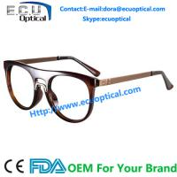 Wholesale Overstate Design Temple eyeglasses Frames and Natural Full sample Design Fashion Stainless Eyewear from china suppliers