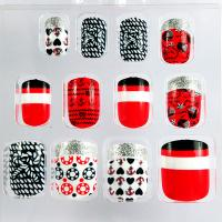 Wholesale Union football Fingers Fake Nails , Sliver glitter cover the nail tops from china suppliers