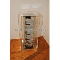 Wholesale Rotating Jewelry Acrylic Display Case , Plexiglass Lucite Acrylic Tower Showcase from china suppliers