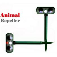 Wholesale Solar Powered Animal Repellent Ultrasonic Garden Dog Repeller Animal Chaser from china suppliers