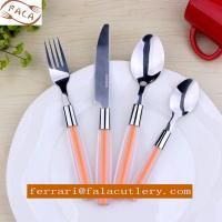 Wholesale 18/0 Mirror Polish ABS/PS Duotone Plastic Handle Cutlery Set from china suppliers