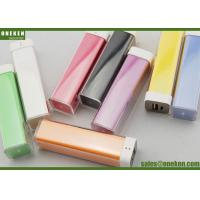 Wholesale Colorful Lipstick 1800mAh / 2200mAh 18650 Power Bank Mobile Phone Accessories from china suppliers