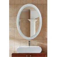 Wholesale Non Fogging Oval Wall Mirrors / Hanging White Framed Mirror Bathroom from china suppliers