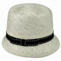 China Fashionable White Sinamay Hat with Black GG Band on sale