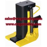 Buy cheap Hydraulic toe jack supplier FINER lifting tools from wholesalers