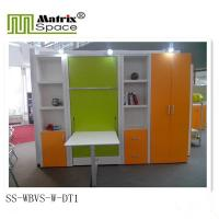 Wholesale Modern Vertical Wall Bed , Single Space Saving Murphy  Bed With Dinning Table from china suppliers