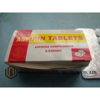 Wholesale GMP Certified Best Quality  B.P. Aspirin 500mg tablet, 10*10/box,  treat pain, and reduce fever or inflammation from china suppliers