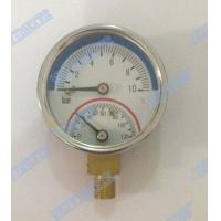 Wholesale 2 Inch Bottom temperature pressure gauge with 1/4 inch connector , brass internals from china suppliers