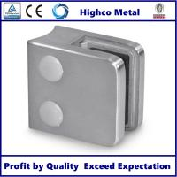 Stainless Steel Square Glass Clamp with Round Back 45x45mm Fit 6-10mm Glass for Staircase Glass Railing