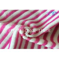 Wholesale Red And White Color Stripe Microfiber Cleaning Towel Cloth For Home Using Super Absorbent from china suppliers