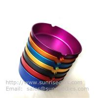Wholesale Multi color anodization Aluminum pocket cigar ashtrays, cheap aluminum smoke ashtray, from china suppliers