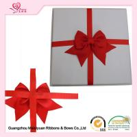 Wholesale Double Face gift wrapping ribbon bows , Red Grosgrain Ribbon Bow various size from china suppliers