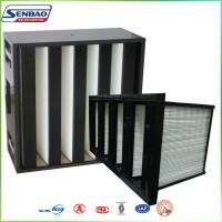 Wholesale V-bank mini pleated Medium Efficiency Carbon Air Filter For HVAC System Coarse Filter from china suppliers