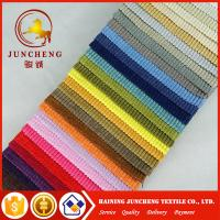 Buy cheap 2018 knitting factory directly knitting velvet checked fabric bonded with tc fabric for sofa and furniture from wholesalers