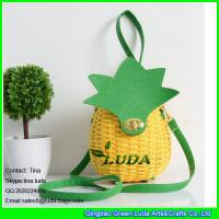 Wholesale LUDA 2016 hot sale wicker handbags handmade pineapple rattan straw bags from china suppliers