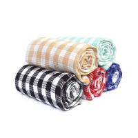 Wholesale Kitchen Cotton Yarn Dyed Checks Pattern Household Waffle Tea Towel Set from china suppliers