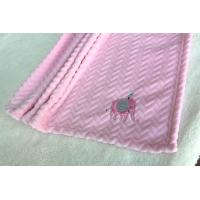 Quality China Factory Wholesale Pink Color Embroidered Baby Blankets for Kids for sale