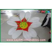 Wholesale White 190T oxford cloth Giant Inflatable Decoration Flower Led Lighting For Party from china suppliers