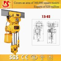 Wholesale Electric chain hoist/small electric pulley hoist/electric 7.5t trible chain hoist from china suppliers