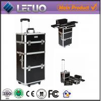 Wholesale Black Croc Makeup Trolley professional makeup trolley case from china suppliers