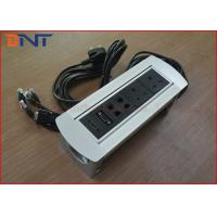 Wholesale UK Standard Manual Rotating Power Socket , Rotatable Tabletop Interconnect Box from china suppliers