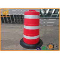 Wholesale Big Road Safety Control Plastic Traffic Barriers / Drum With Rubber Base from china suppliers
