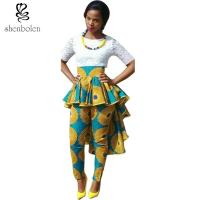 Wholesale Modern Kitenge African Print Dresses Pants Designs , Womens African Print Joggers Pants from china suppliers