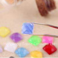 Wholesale 2015 Latest Glitter rhinestone Flat back resin crystal stone neon color stone from china suppliers